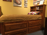 "Shown with 2-Tier 56"" High Bookcase Headboard"