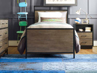 Catalina Panel Bed - Dark