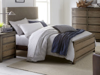 Skyline Fabric Headboard Bed, Twin