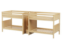 Quad Full/Full Med Bunk Bed w/ Stairs