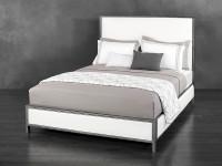Mason Upholstered Iron Bed