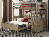 Seaview Loft Bed Twin over Full - Driftwood