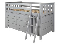 Space Saver Twin Low Loft w/ Dresser, Chest & Ladder
