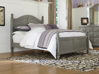 Lakeview Poster Bed Full - Grey