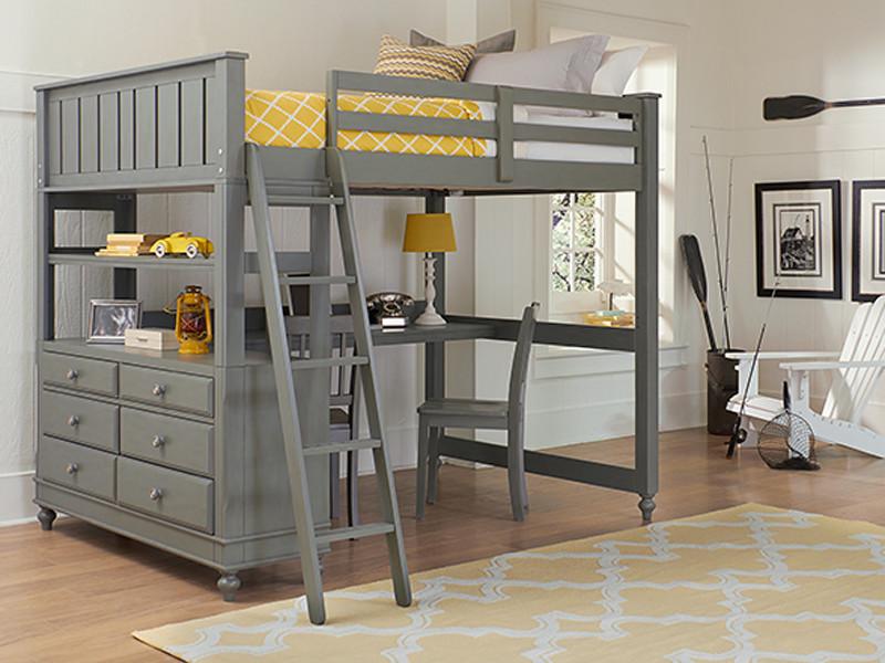 online retailer 002d9 49915 Lakeview Loft Bed Full - Grey - Bedroom Source