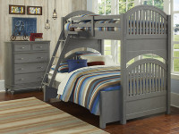 Lakeview Bunk Bed Twin/Full - Grey