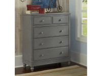 Lakeview 5 Drawer Chest - Grey
