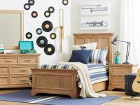 Dylan Panel Bed Full - Honey