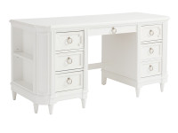Juliette Pedestal Desk - White