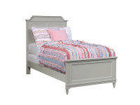 Juliette Panel Bed Twin - Grey