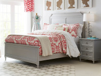 Juliette Panel Bed Queen - Grey