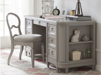 Juliette Pedestal Desk - Grey