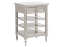 Juliette Bedside Storage Table - Grey