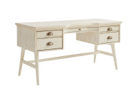 Union Square Pedestal Desk - French Vanilla
