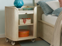 Union Square Bedside Storage Table - French Vanilla