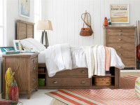 Union Square Panel Bed Twin - Amaretto