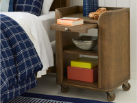 Union Square Bedside Storage Table - Amaretto