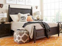 Elizabeth Panel Bed Queen - Molasses