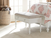 Elizabeth Storage Bed Bench - White