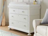 Elizabeth Single Dresser - White