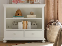 Elizabeth Low Bookcase - White