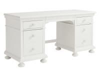 Elizabeth Pedestal Desk - White