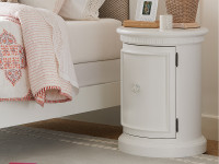Elizabeth Bedside Drum Table - White