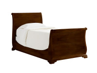 Sydney Sleigh Bed Twin - Dark Cherry