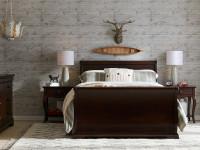 Sydney Sleigh Bed Full - Dark Cherry