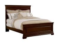 Sydney Panel Bed Queen - Dark Cherry