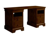 Sydney Partners Desk - Dark Cherry