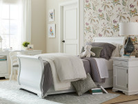 Sydney Sleigh Bed Twin - White