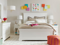 Sydney Panel Bed Queen - White