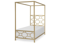 Tribecca Metal Canopy Bed, Twin
