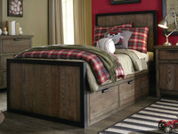 Shown with optional underbed storage drawers