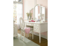 Arianna Vanity Desk & Tri-Fold Mirror  - Floor Sample