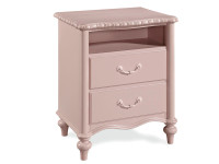Camille 2 Drawer Nightstand w/ Rose Finish  - Floor Sample