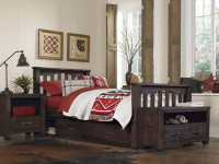 Seaview Slatted Bed Full - Espresso