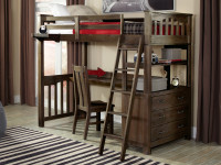 Seaview Loft Bed Twin - Espresso