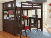 Seaview Loft Bed Full - Espresso