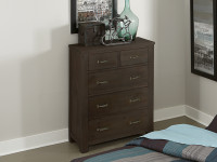 Seaview 5 Drawer Chest - Espresso