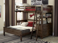 Seaview Loft Bed Twin over Full - Espresso