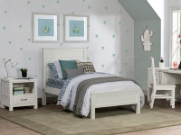 Seaview Panel Bed Twin - White