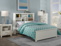 Seaview Bookcase Bed Full - White
