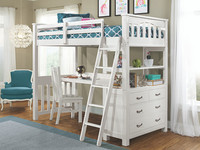 Seaview Loft Bed Twin - White