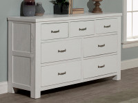 Seaview 7 Drawer Dresser - White