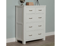 Seaview 5 Drawer Chest - White