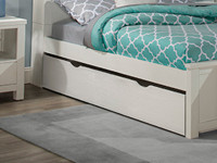 Seaview Slatted Trundle - White