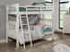 Pictured is the twin over twin bunk bed