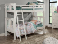 Seaview Bunk Bed Twin over Full - White